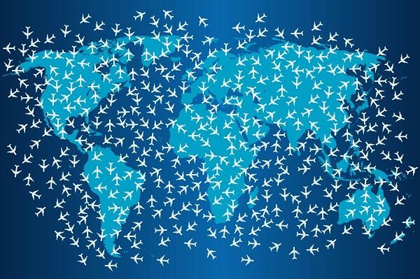 globales Luftfrachtaufkommen