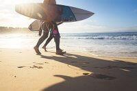Surfer am Bondi Beach in Australien